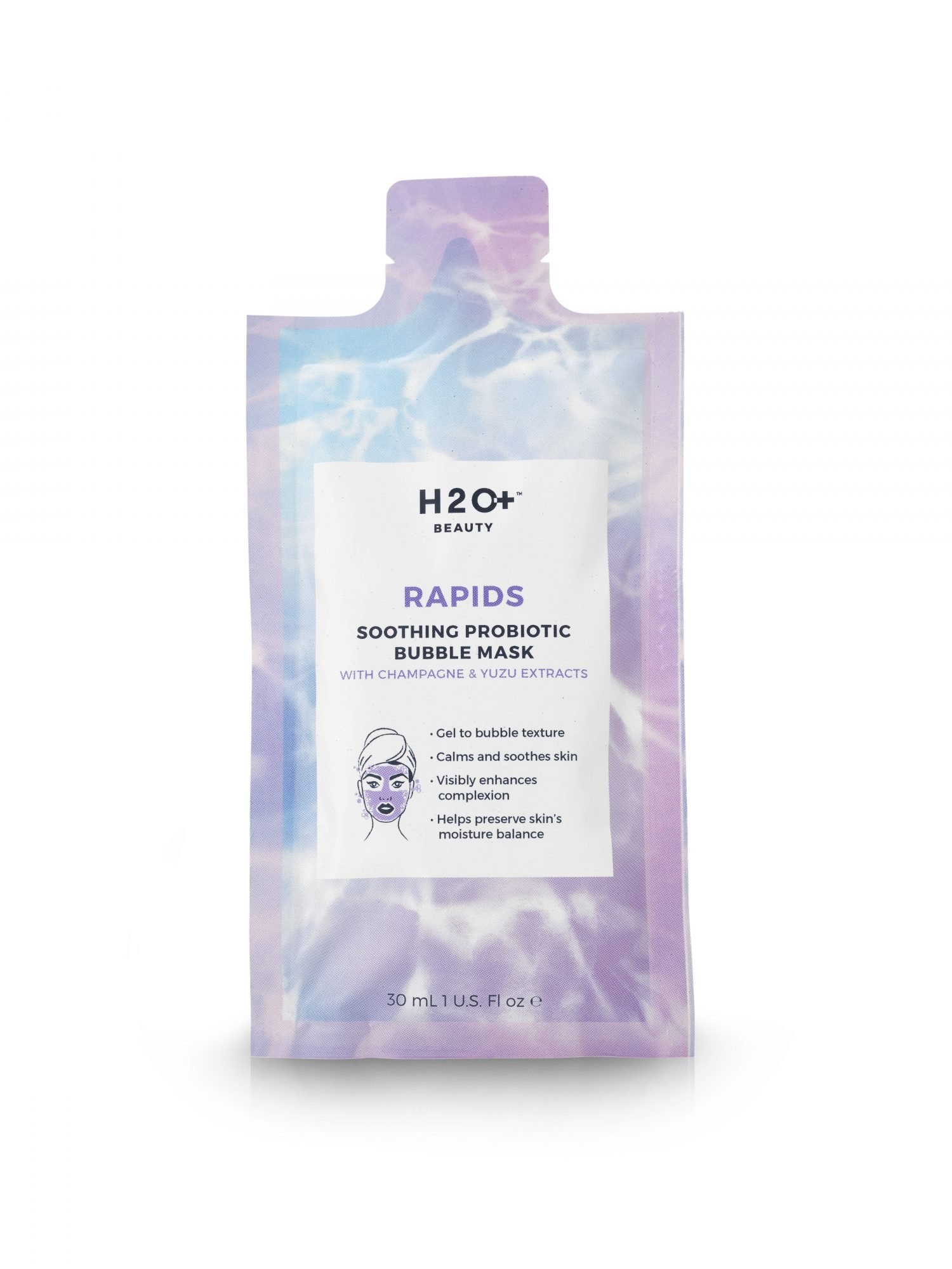 H2O+ Rapid Soothing Probiotic Bubble Mask