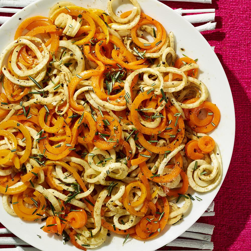 Spiralized Butternut Squash & Celery Root