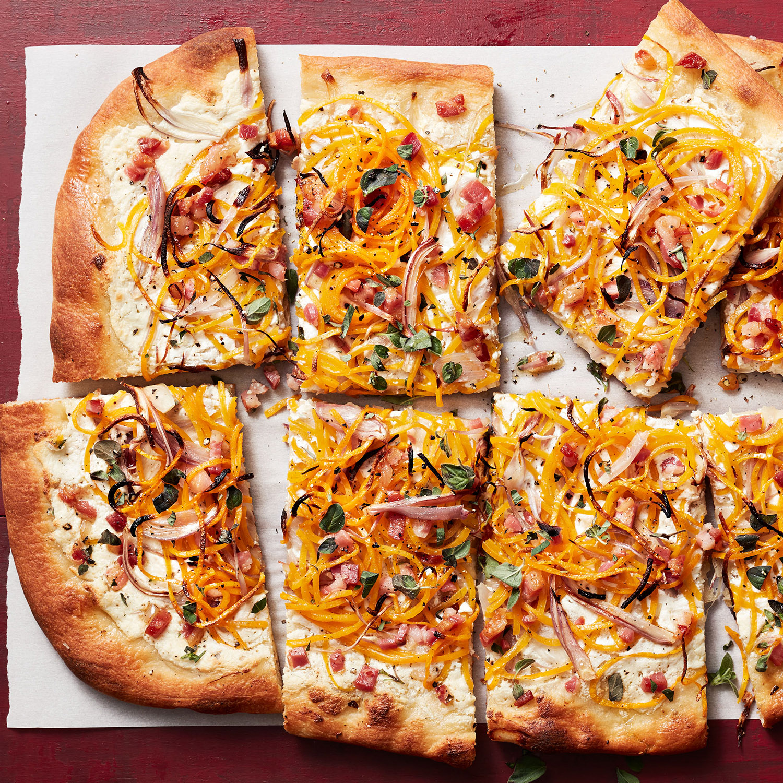 Spiralized Squash & Pancetta Pizza