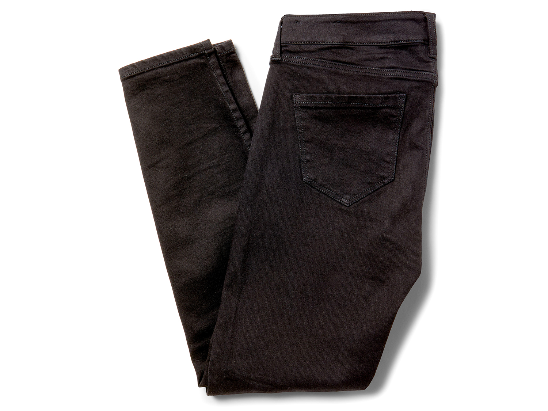 liverpool penny ankle skinny denim in black rinse