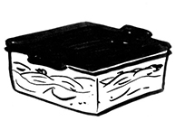 tupperware illustration