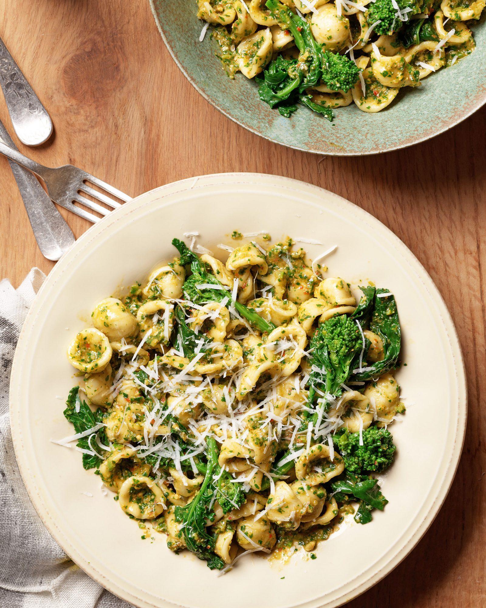 orecchiette with broccoli rabe pesto