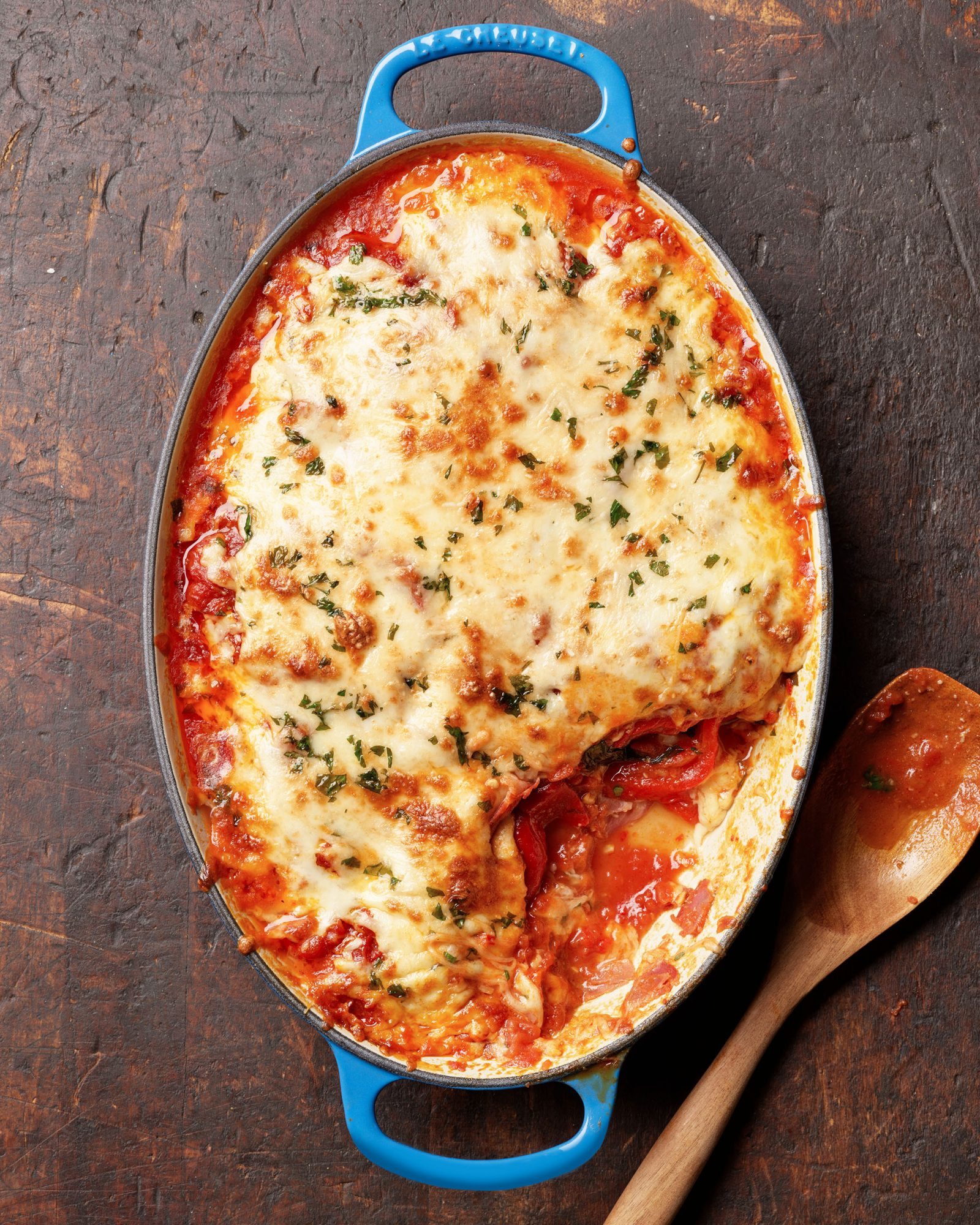 roasted red pepper & hot coppa parmigiana