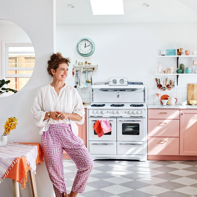leela cyd in bright kitchen