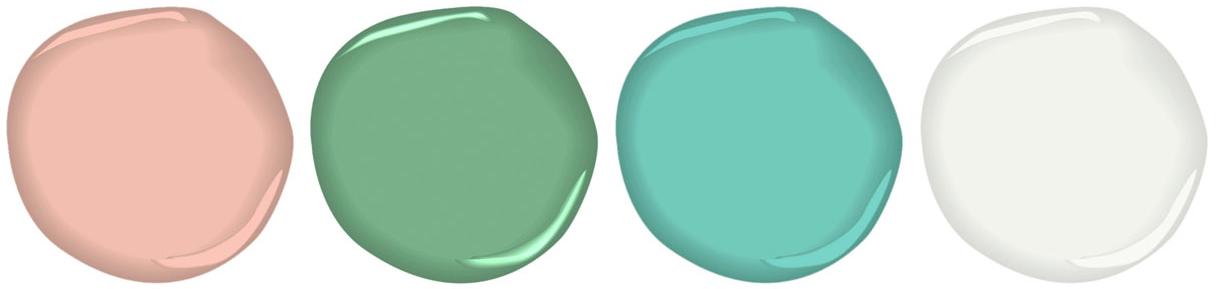 pastel paint swatches