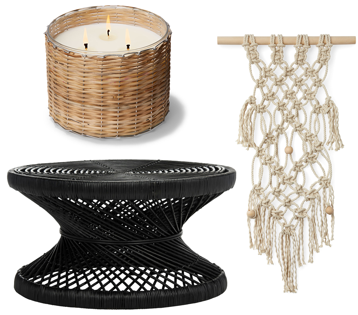 macrame trends candle table wall hanging