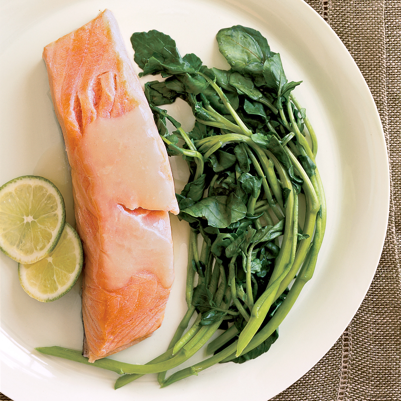 coconut-poached salmon