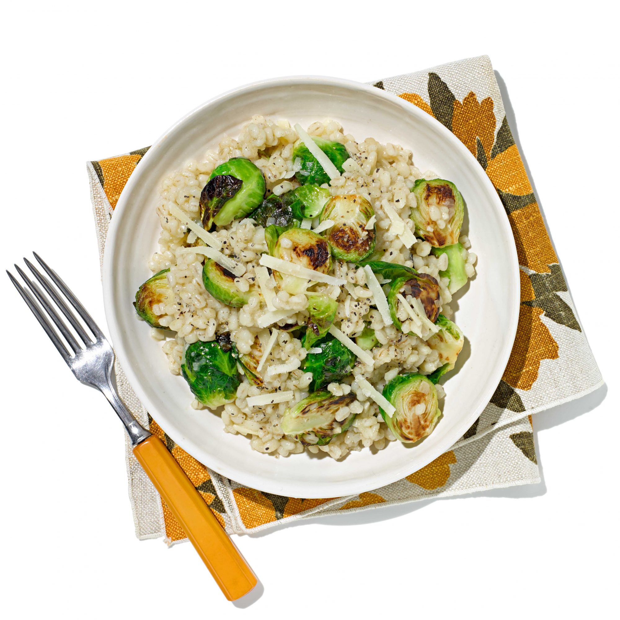 Barley & Brussels Sprouts Risotto