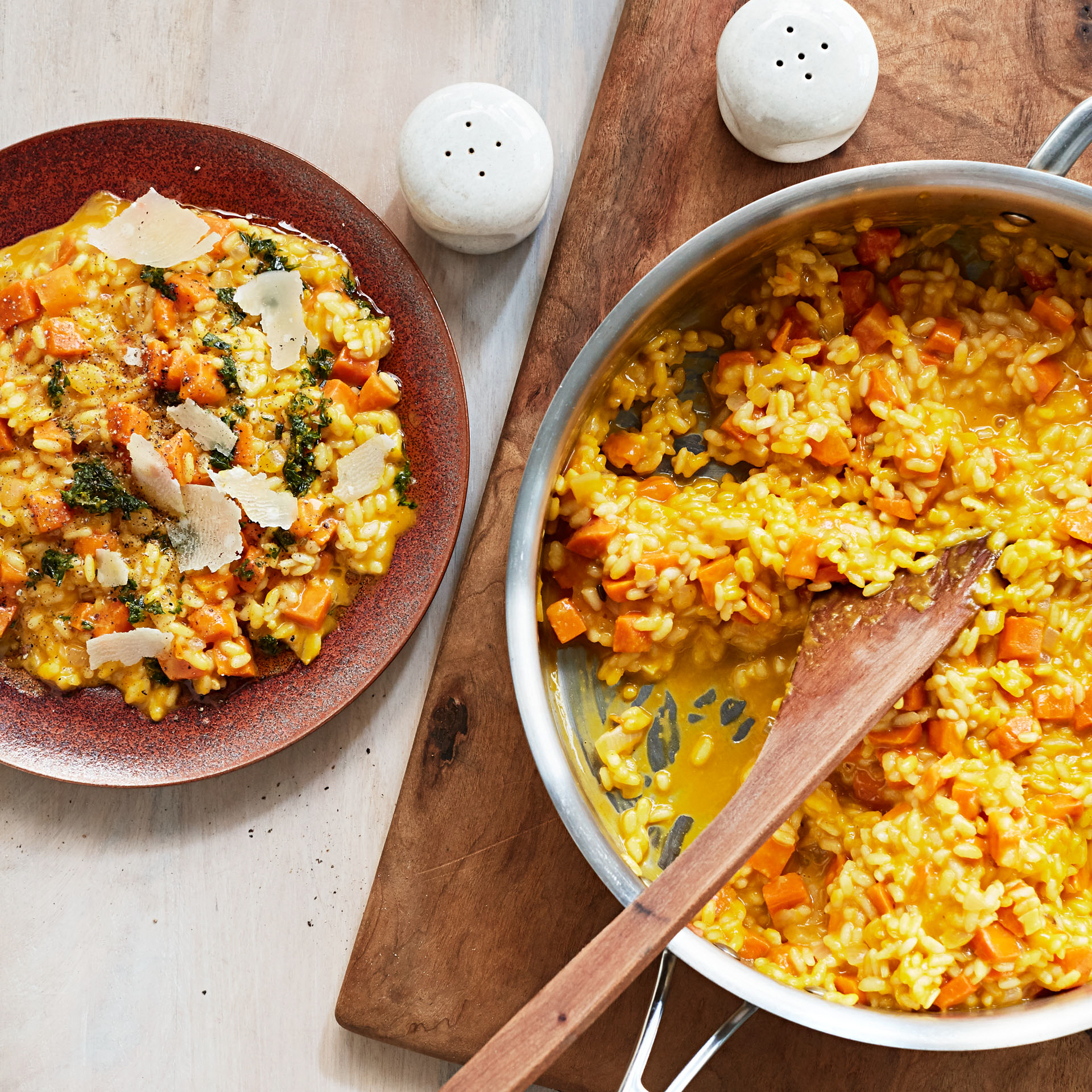 carrot risotto with carrot tops