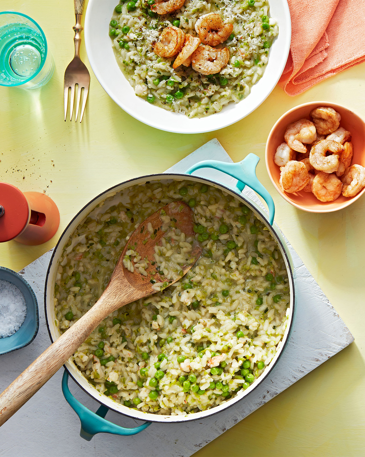risotto with peas & shrimp