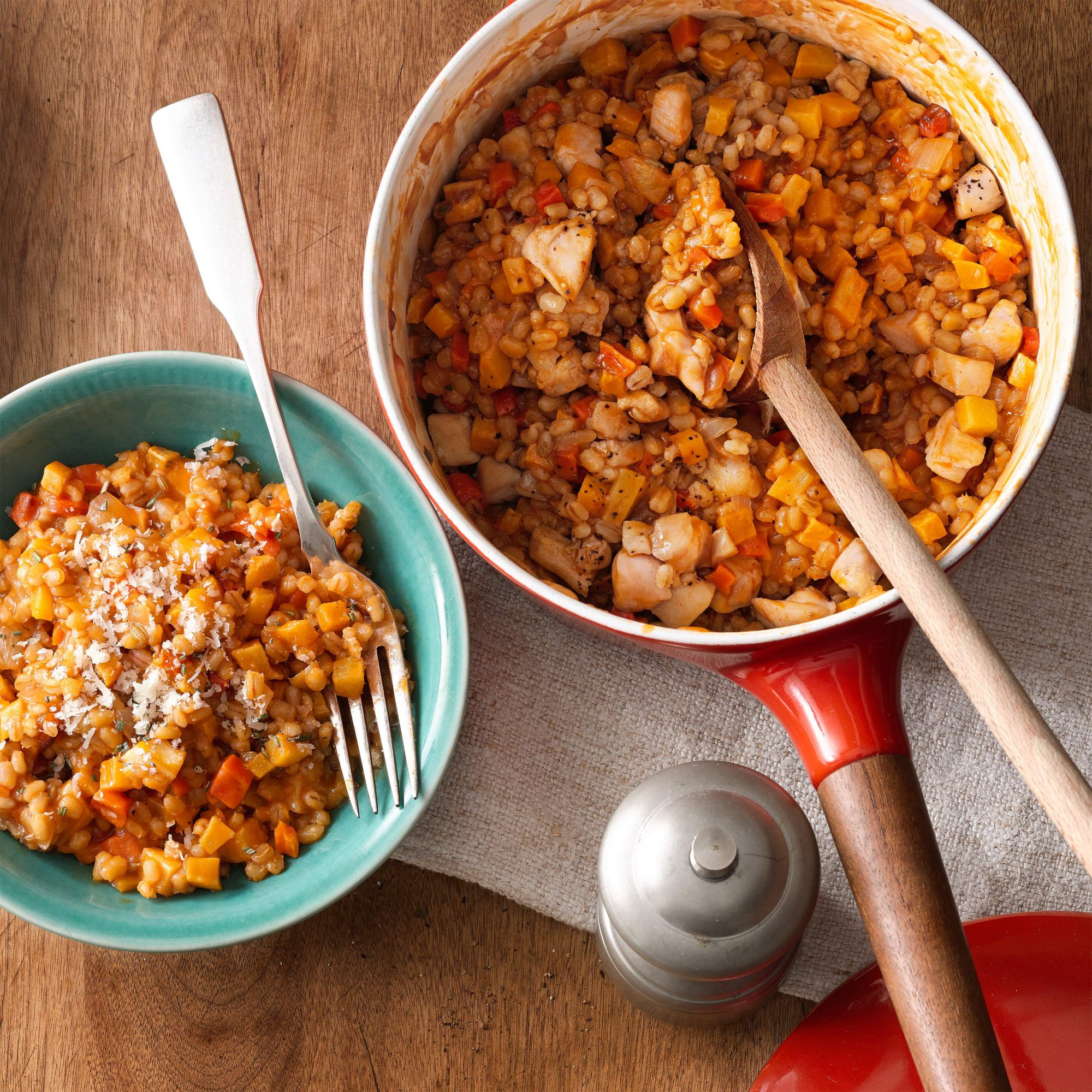 Root Vegetable and Barley Risotto