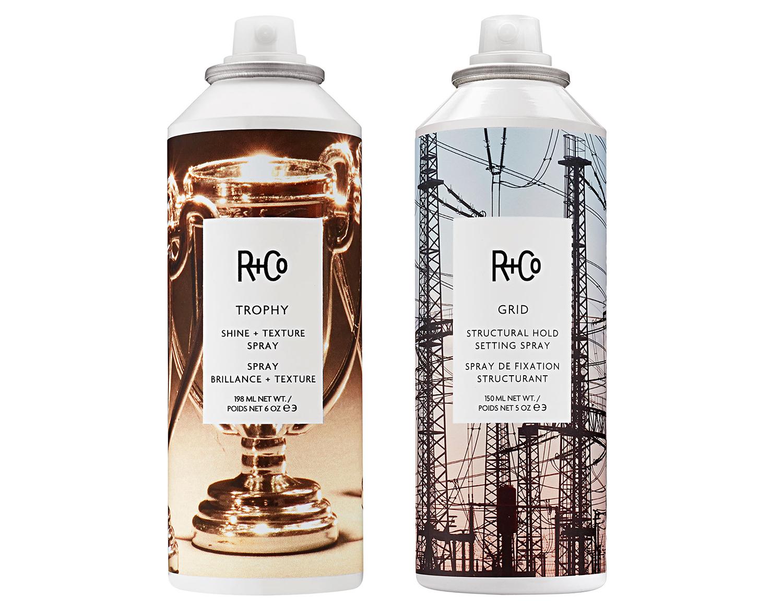 r co trophy and grid hair sprays