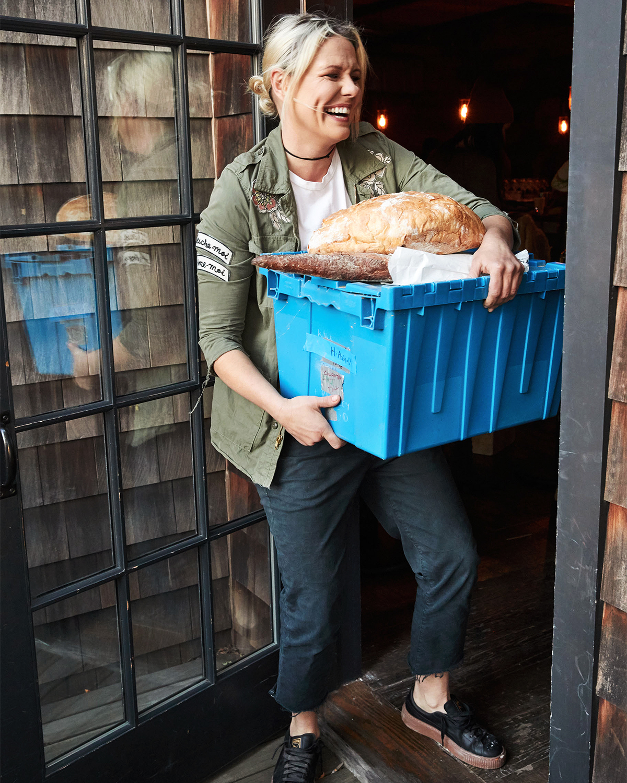 bread delivery portrait