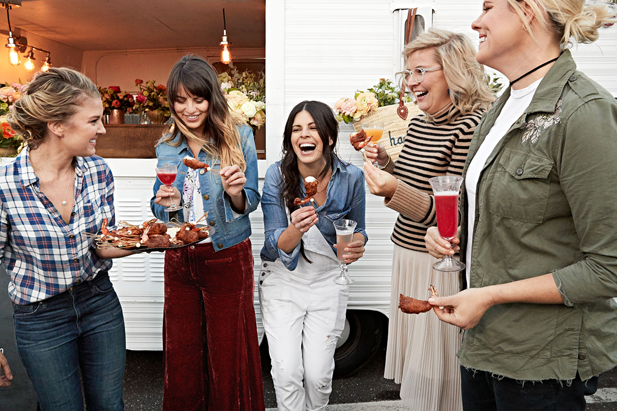 cocktail hour women laughing party