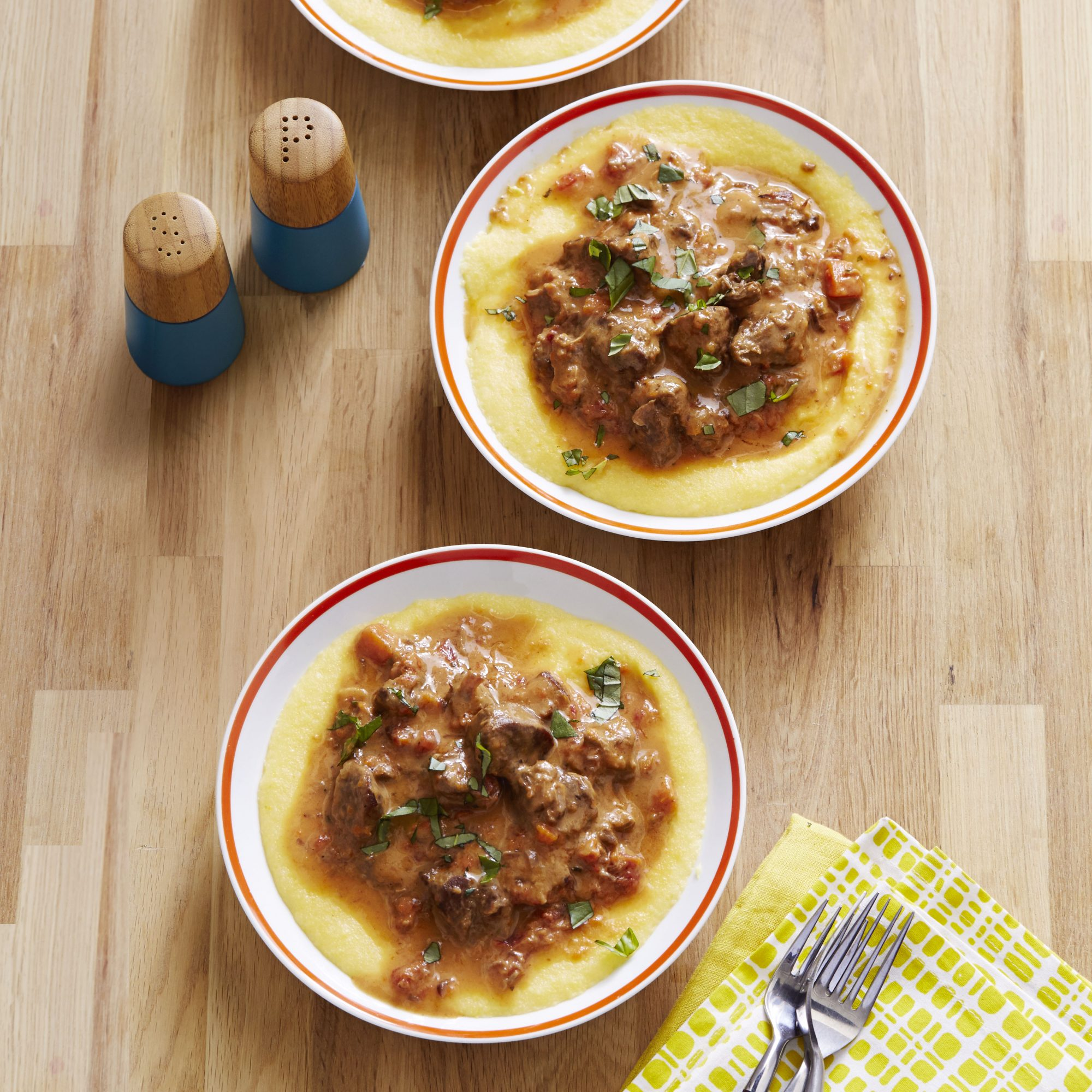 Lamb Stew with Polenta