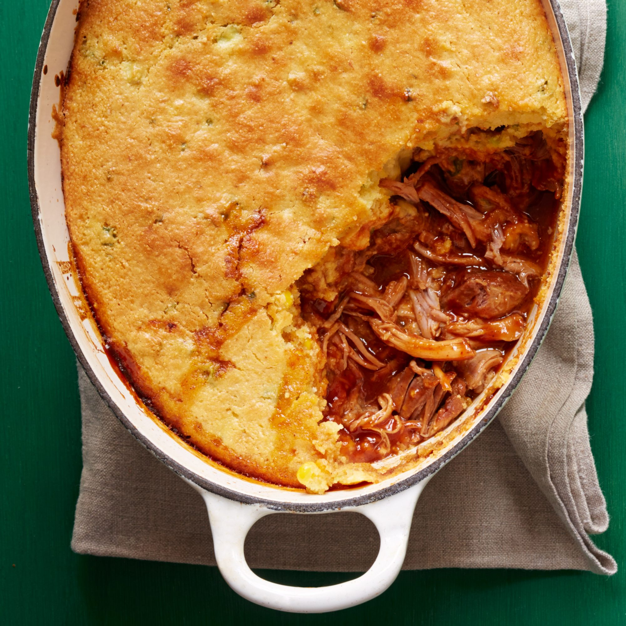 Pulled Pork with Cornbread Topping