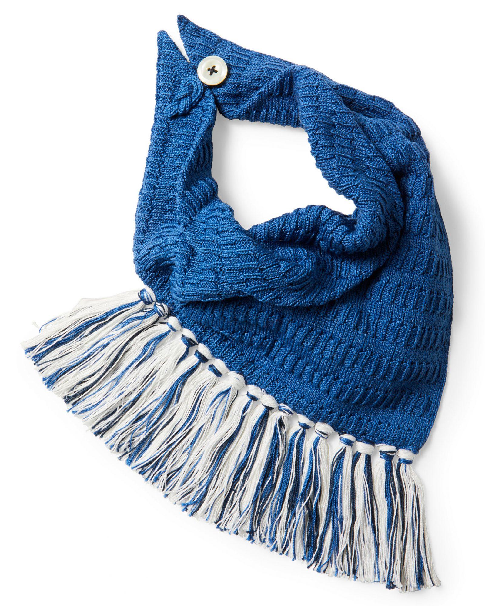blue knotty scarf