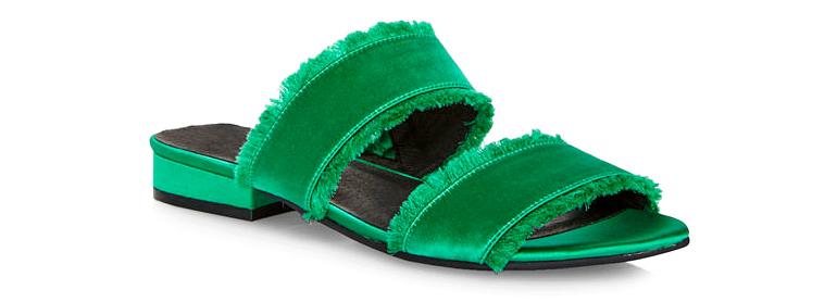 green kenneth cole viola slides