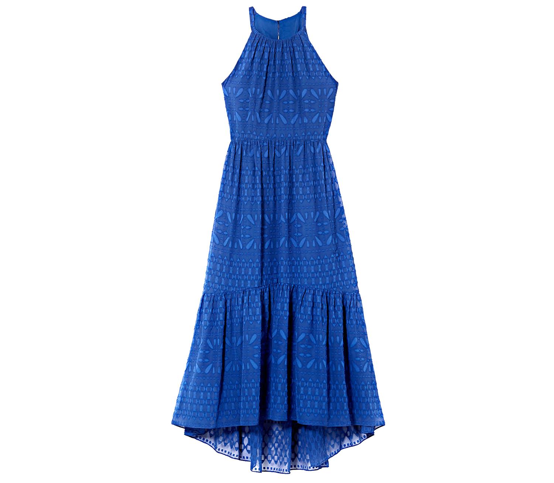 blue vince camuto halter maxi dress