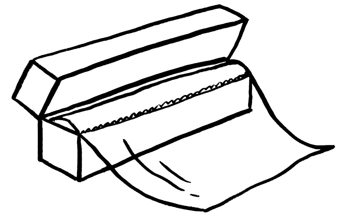 plastic wrap test kitchen illustration