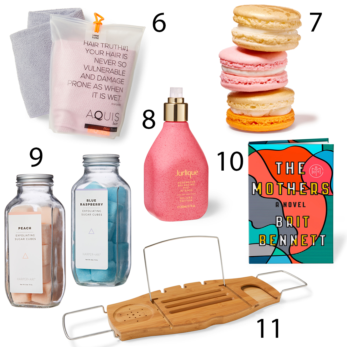 mother's day spa products tray treats bath salts book