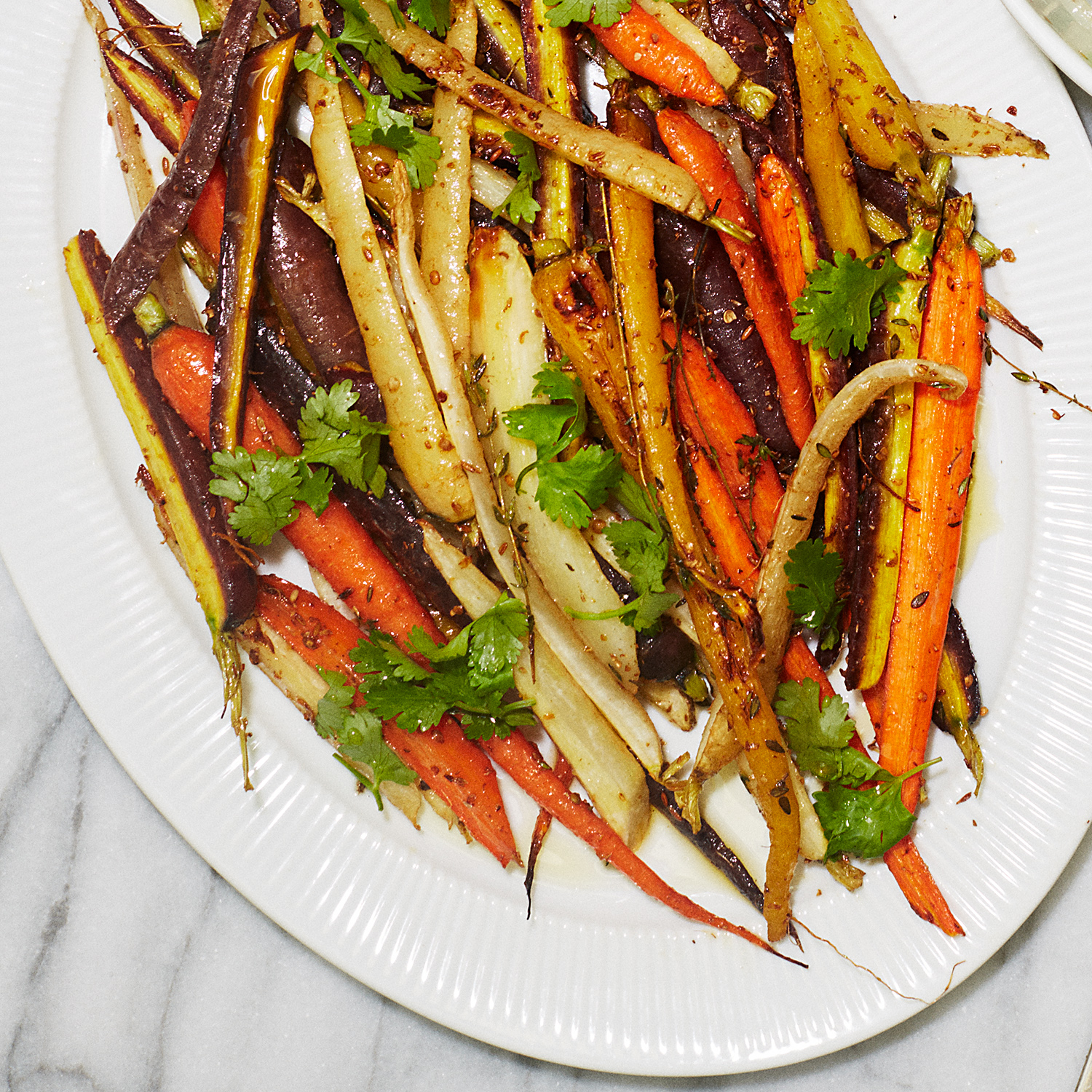 Roasted Heirloom Carrots with Coriander