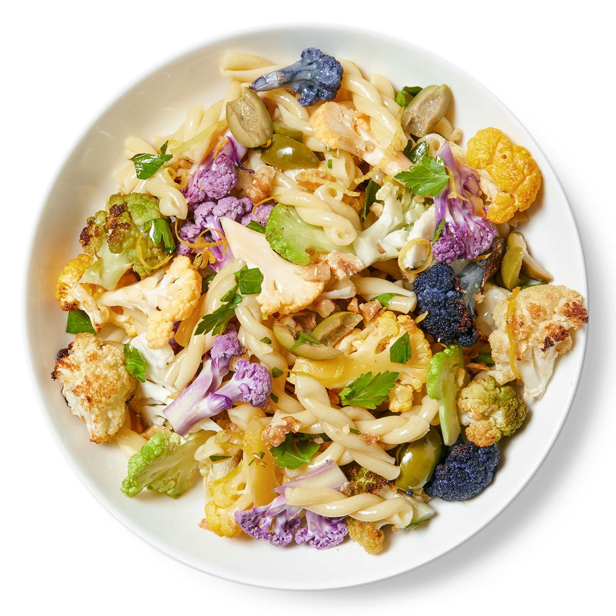 colorful cauliflower pasta