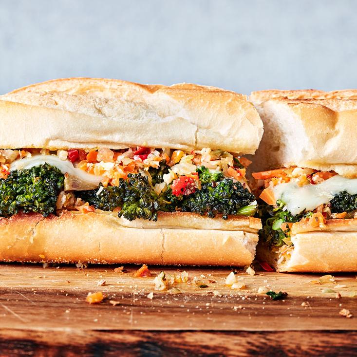 Roasted Broccolini Hero Sandwiches