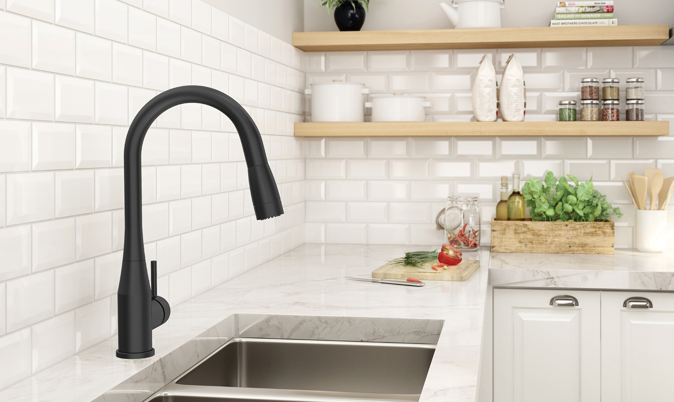 cheap-and-discount-matte-black-kitchen-faucet-with-finish-symmons-industries-inc