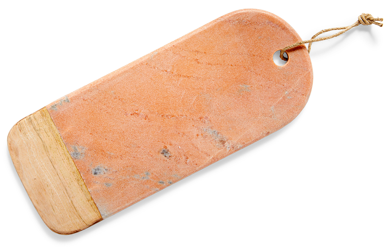 thirstystone mango wood marble oval board