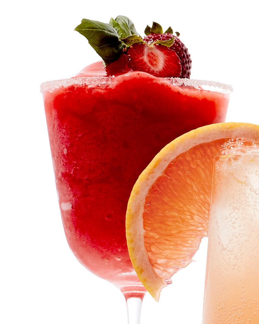 strawberry basil virgin daquiri