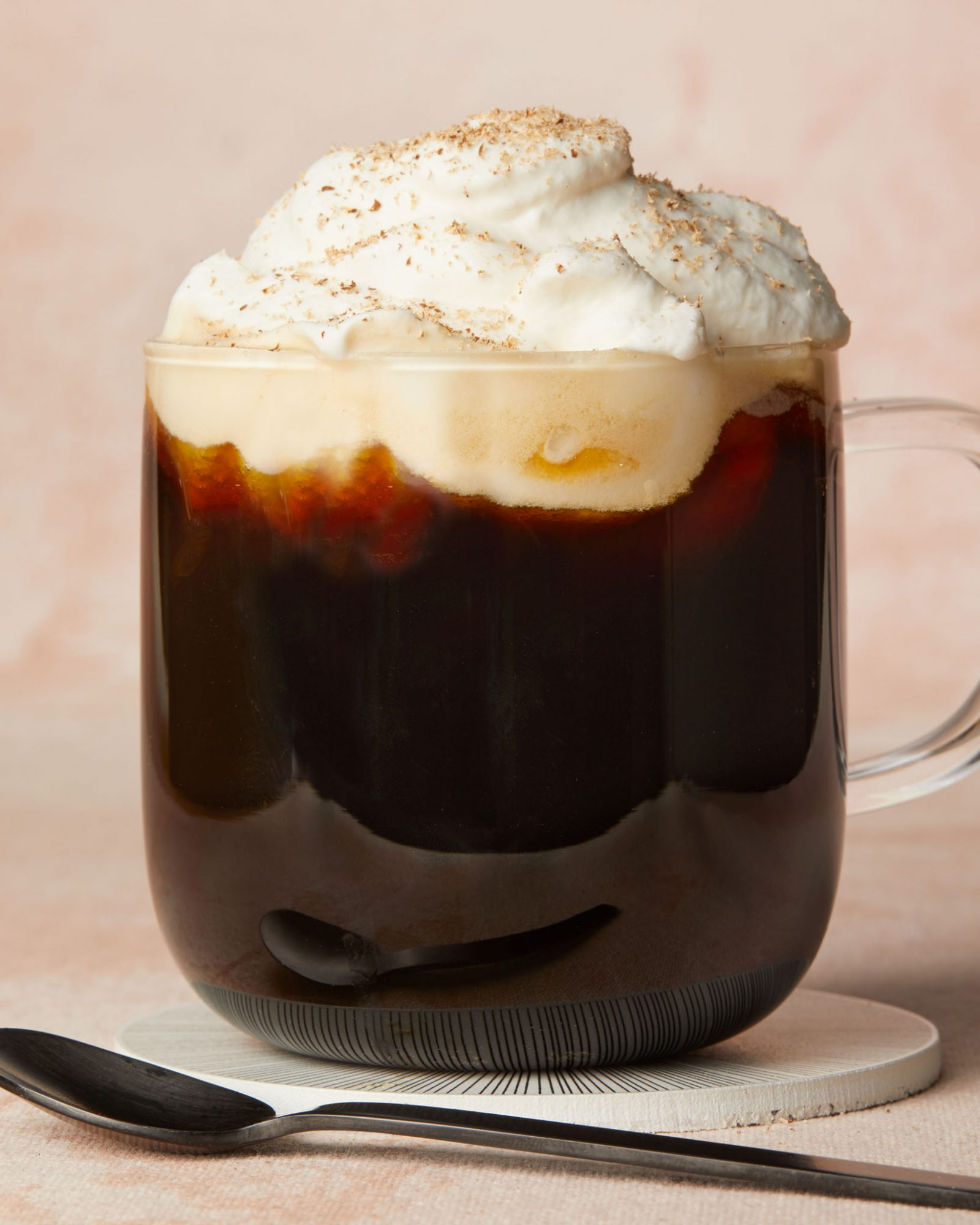 coffee with nutmeg whipped cream