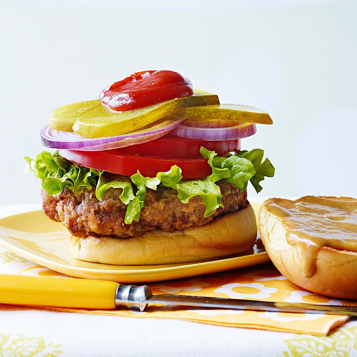 Spicy Chicken-Fried Hamburgers