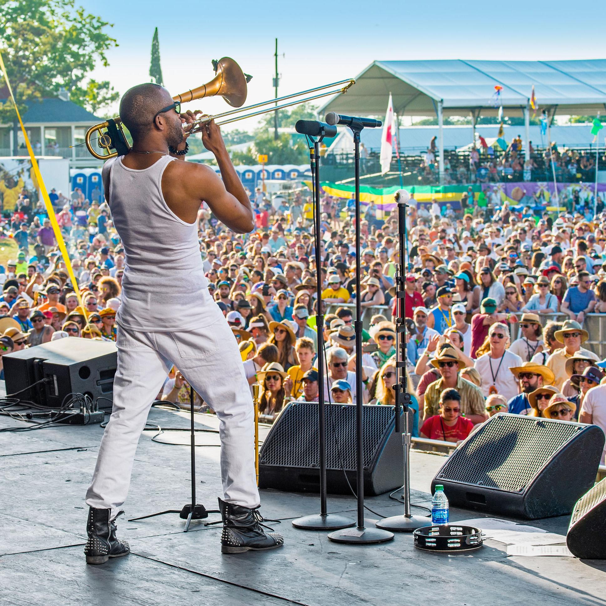 music festival artist trombone