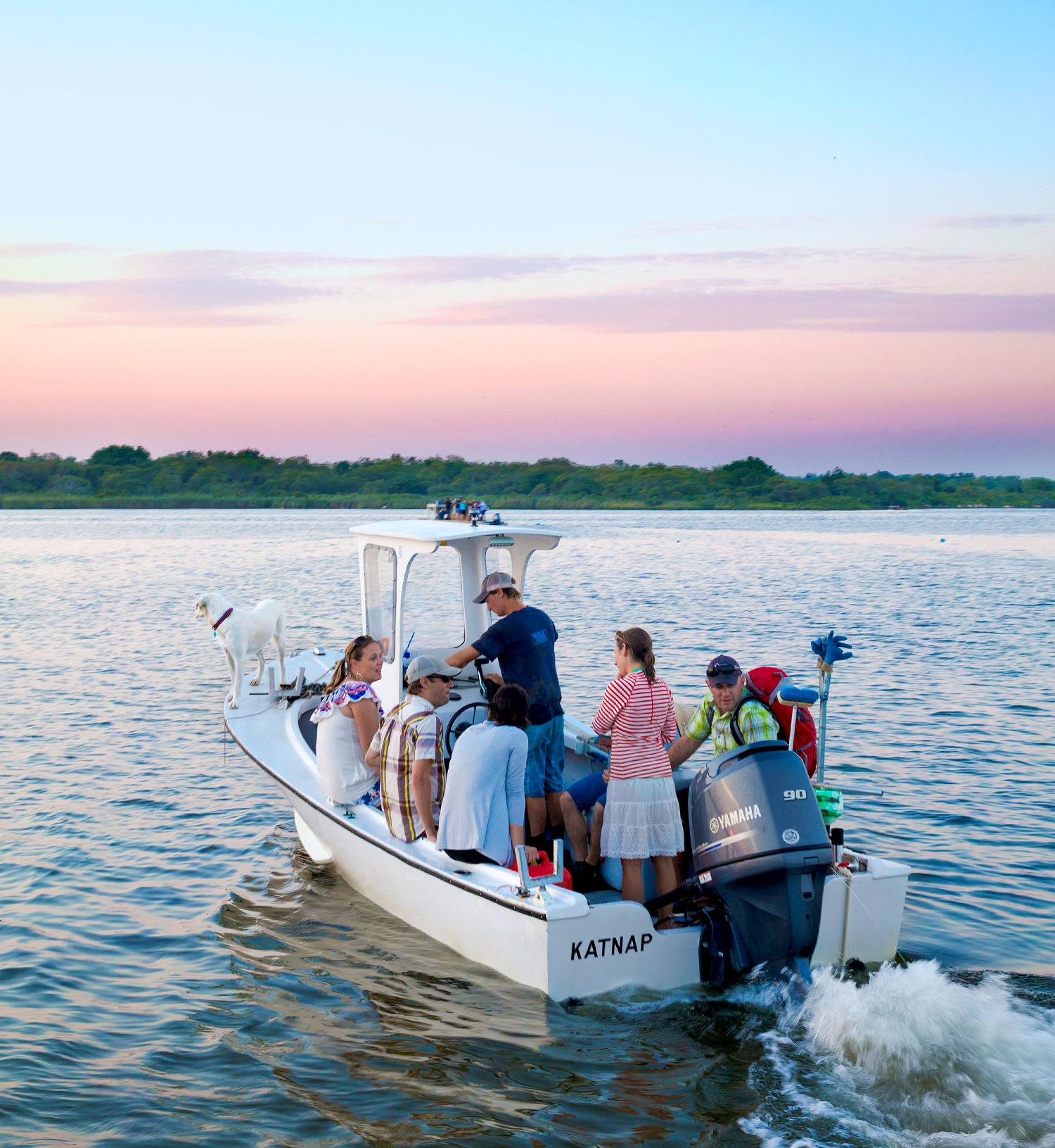 post-oyster dinner sunset cruise