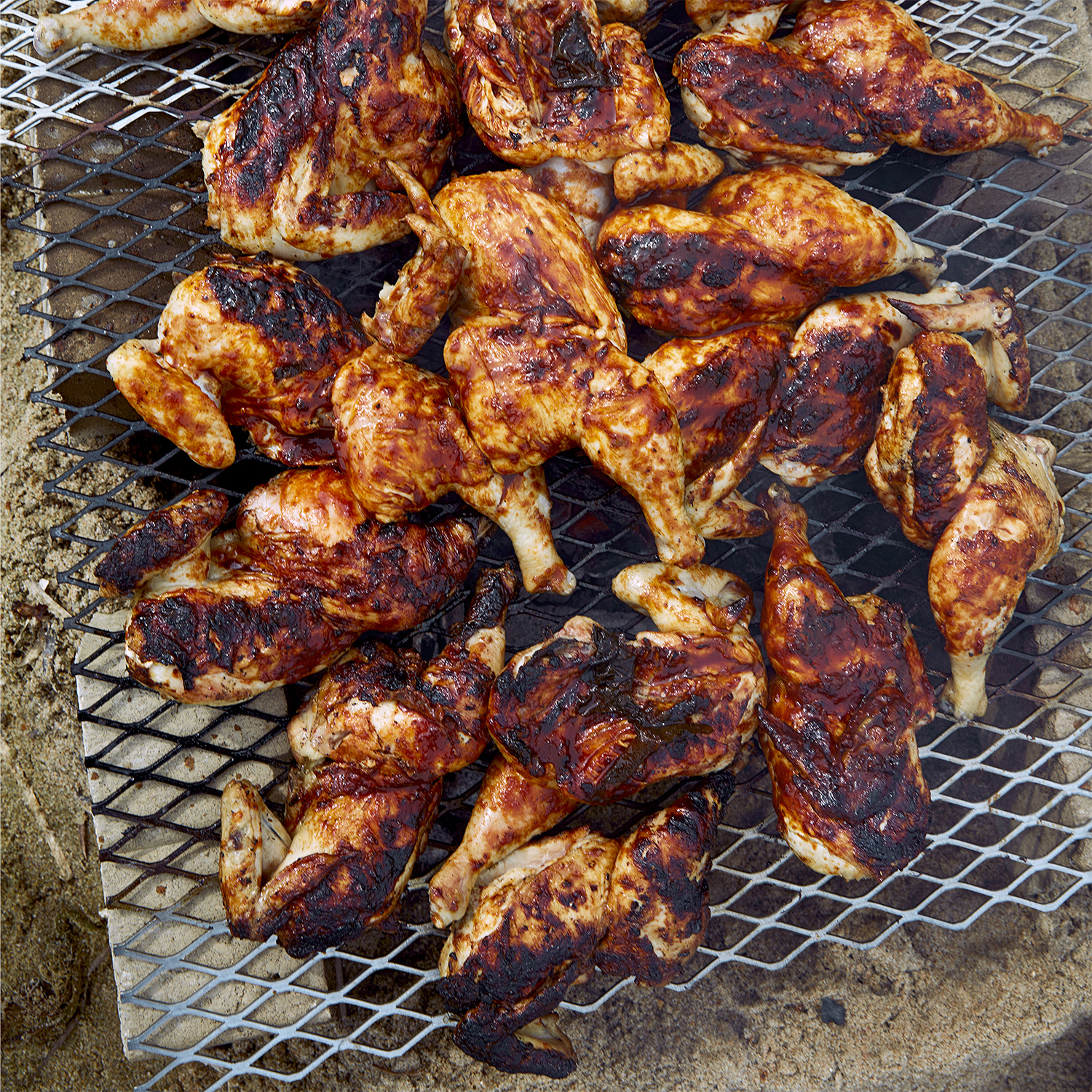 salt-brined chicken with oyster barbecue sauce