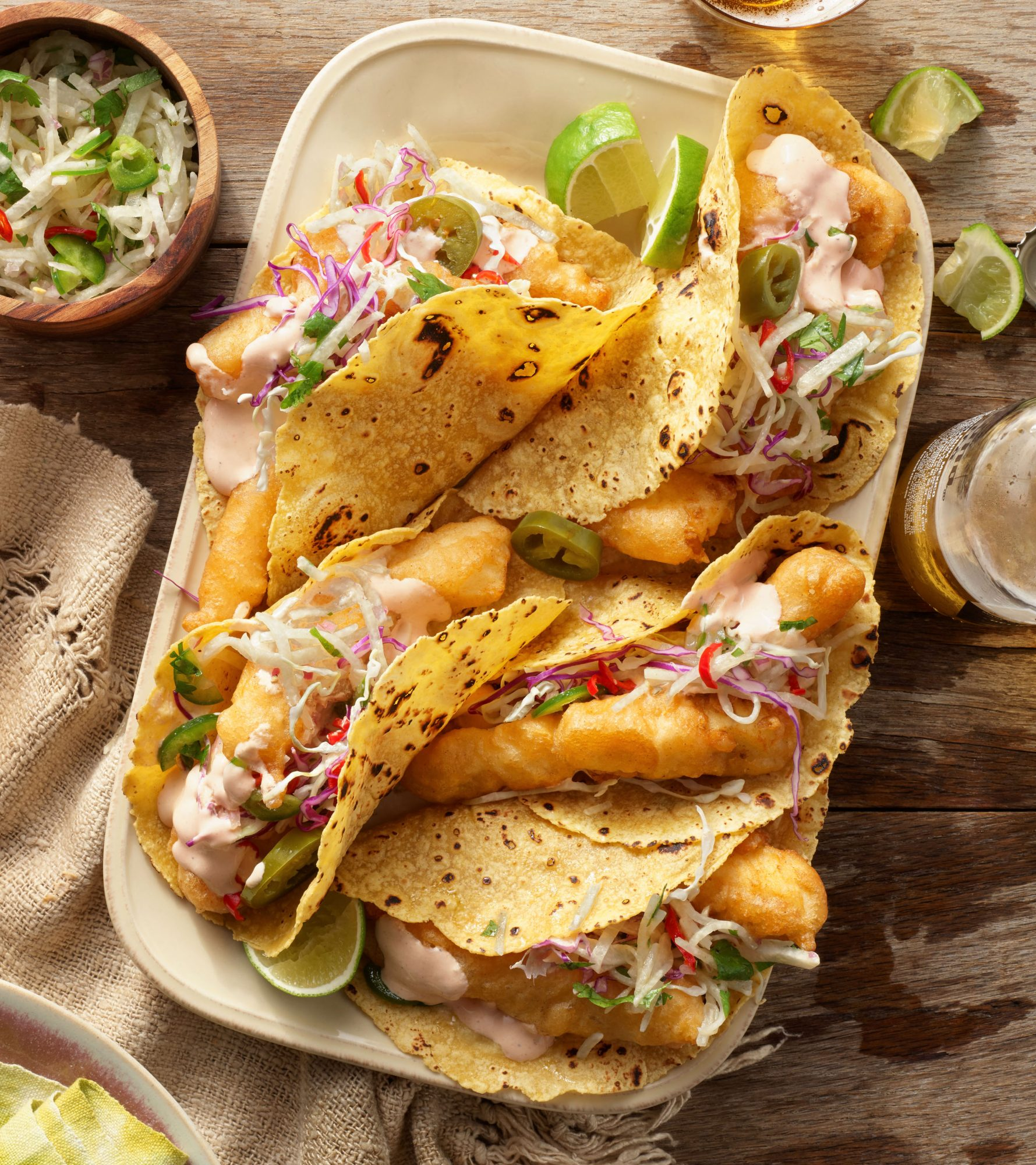 Rachael Ray's Baja Beer-Battered Fish Tacos