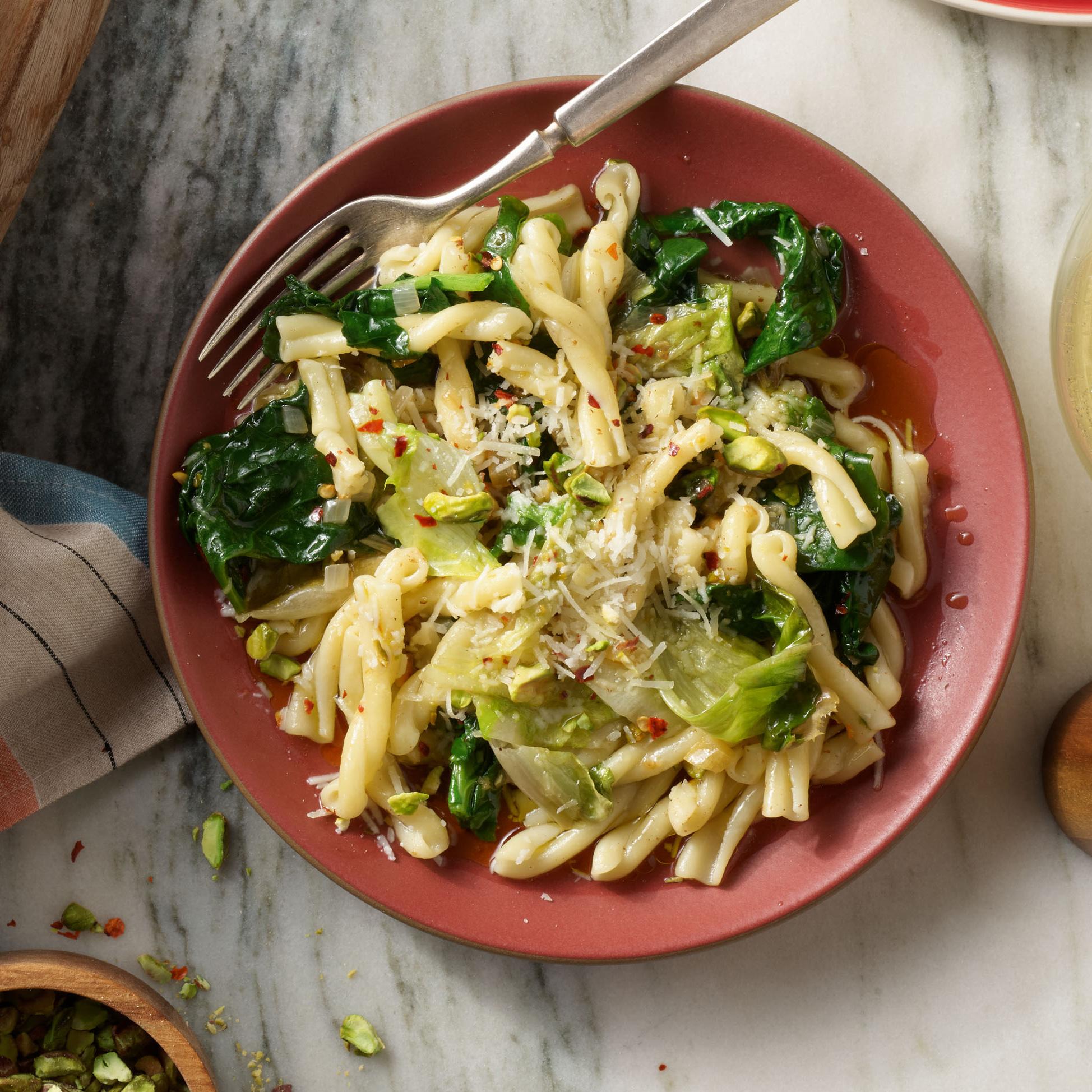 spicy spinach pasta