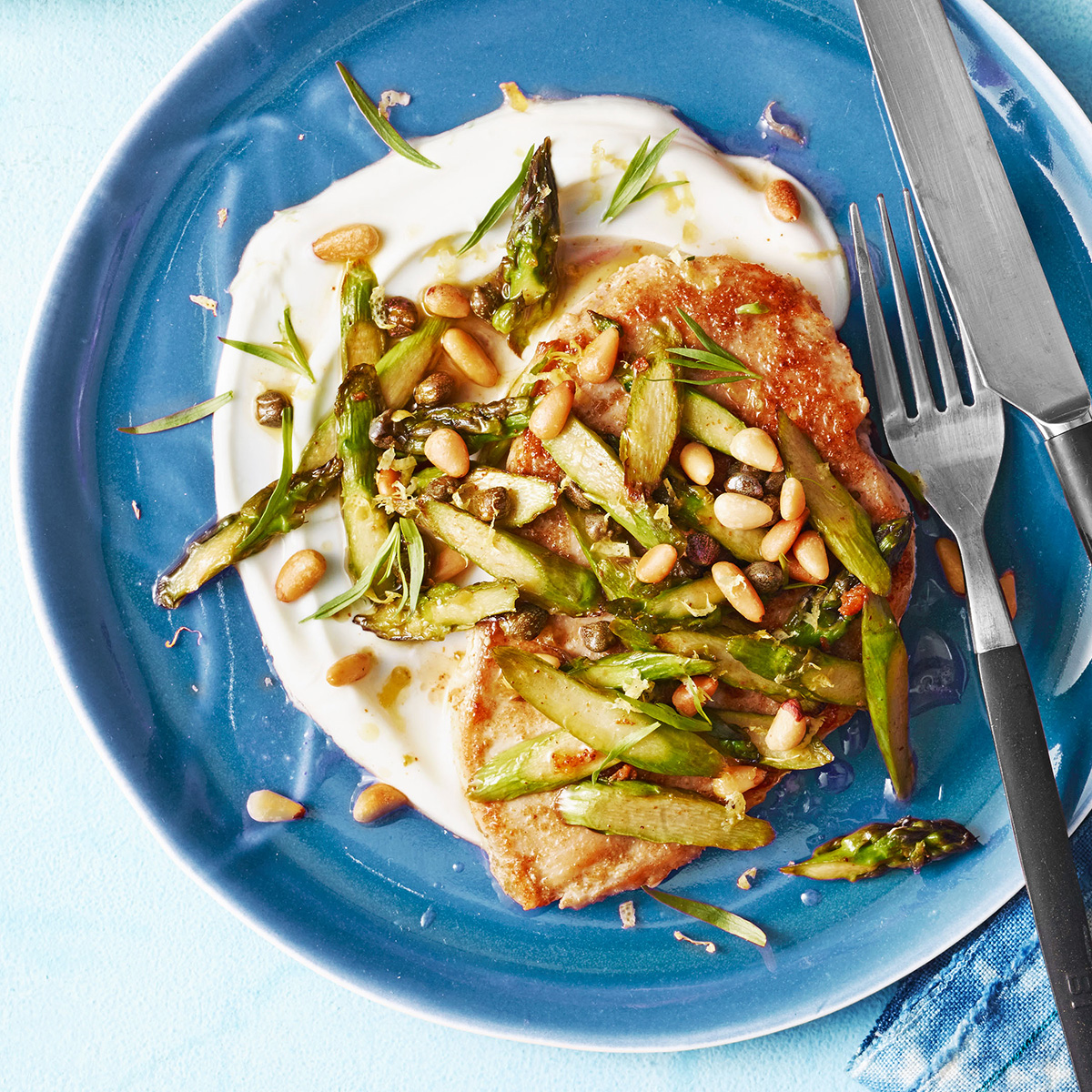 chicken asparagus saute rachael ray