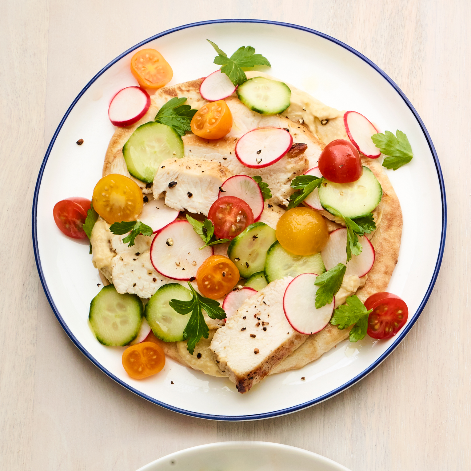 greek chicken & hummus pitas