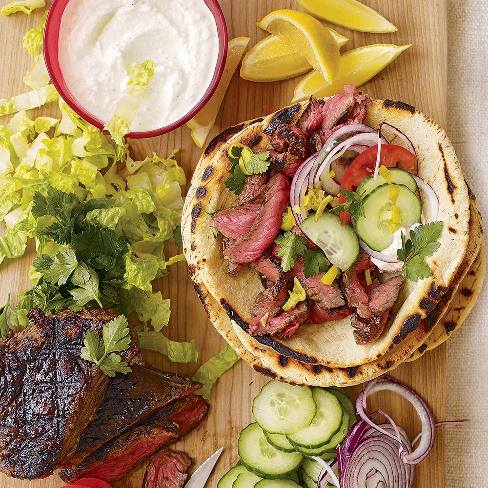 Sliced Steak Gyros