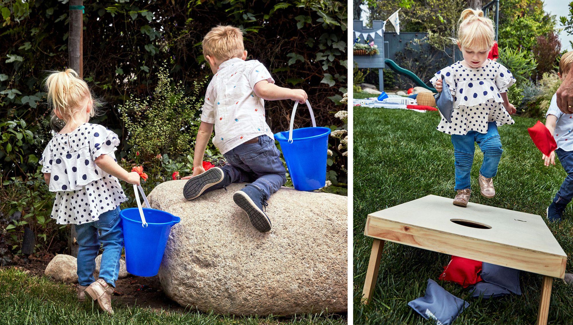 emily hendersons children playing outside