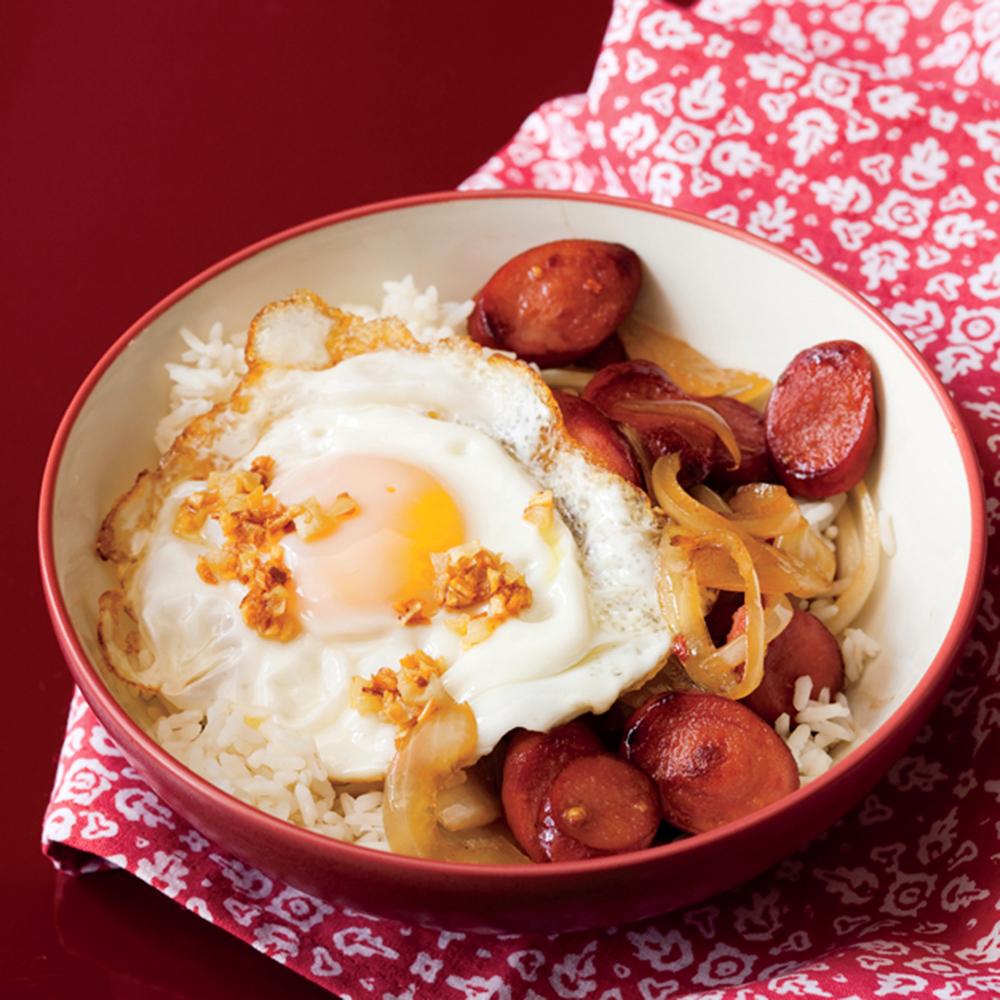 Hot Dog Rice Bowls