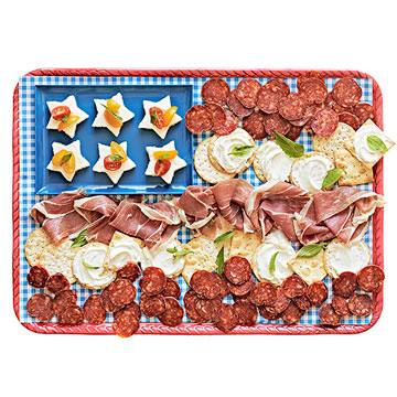 Bread and meat plate