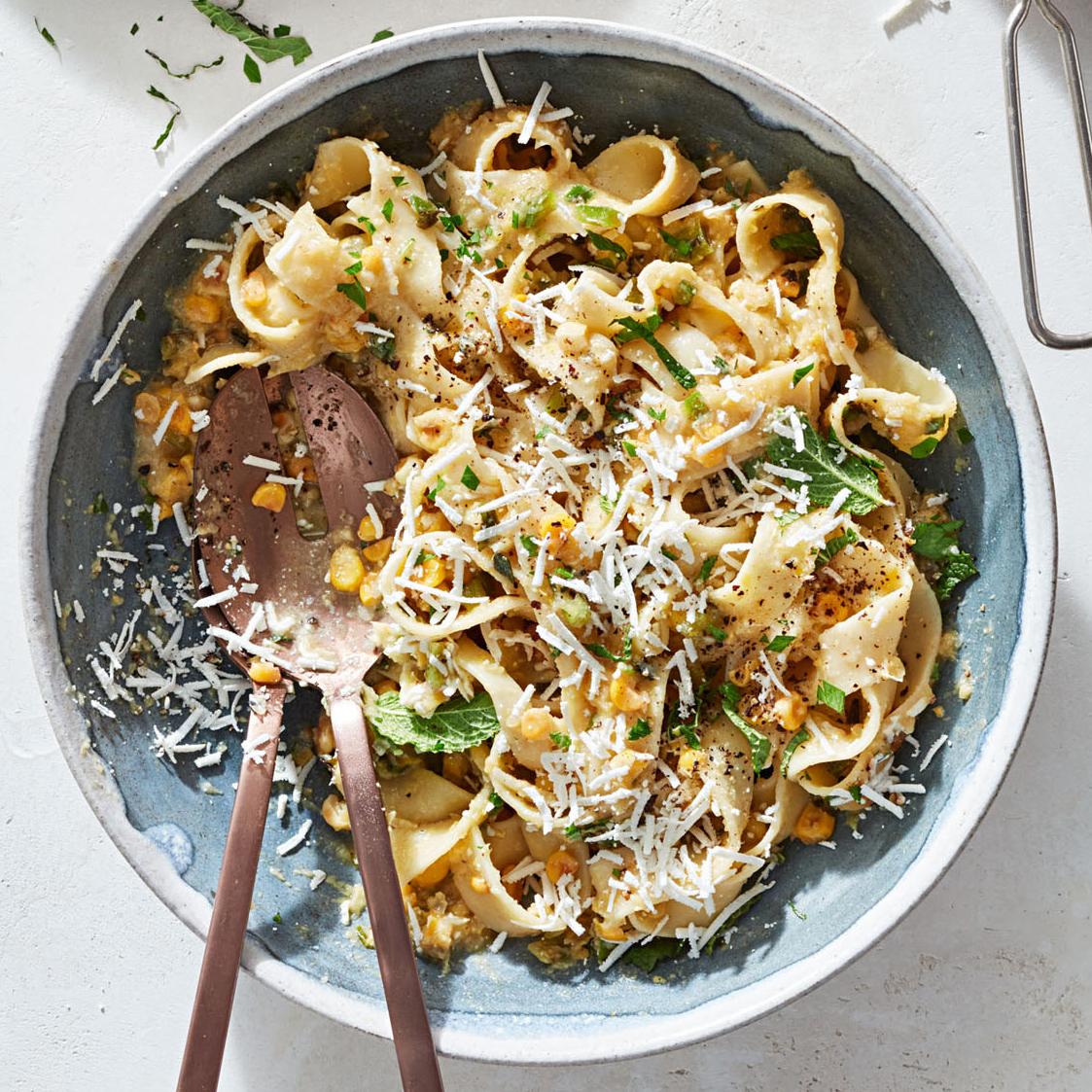 creamed corn pasta ricotta salata