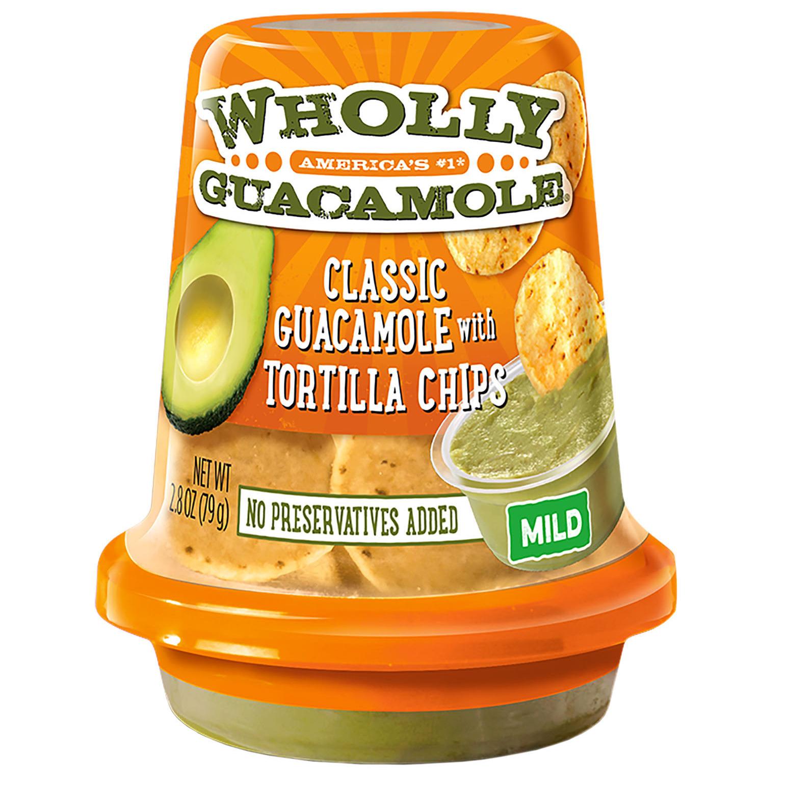wholly guacamole snack cup