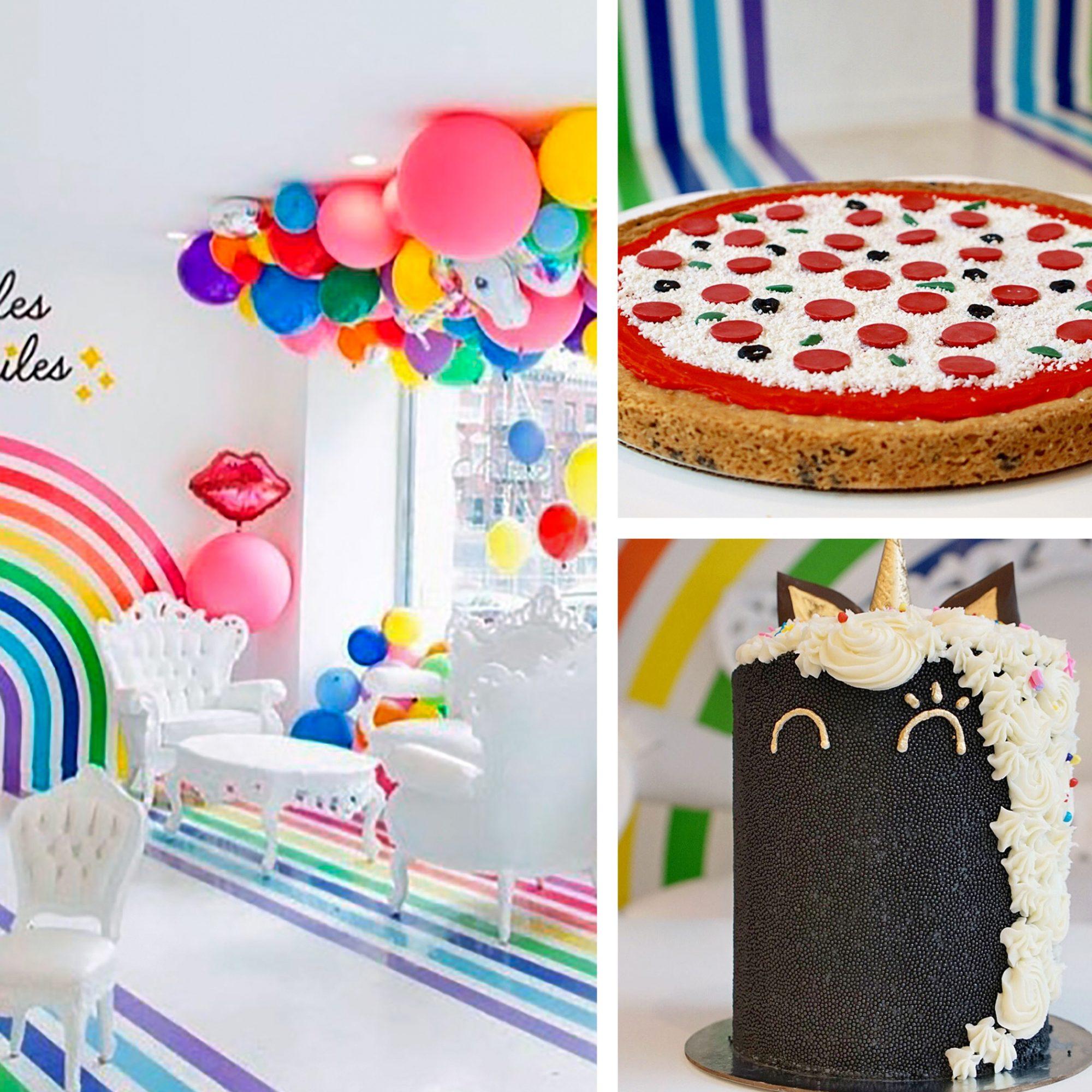 rainbow birthday collage