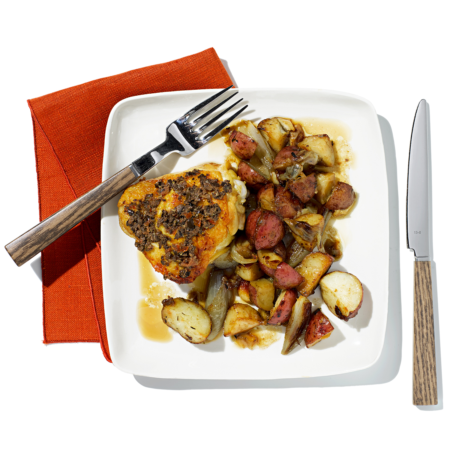 Roasted Black-Olive Chicken and Potatoes