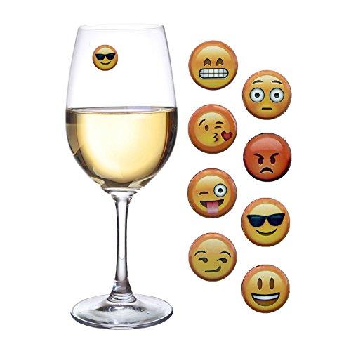emoji glass stickers
