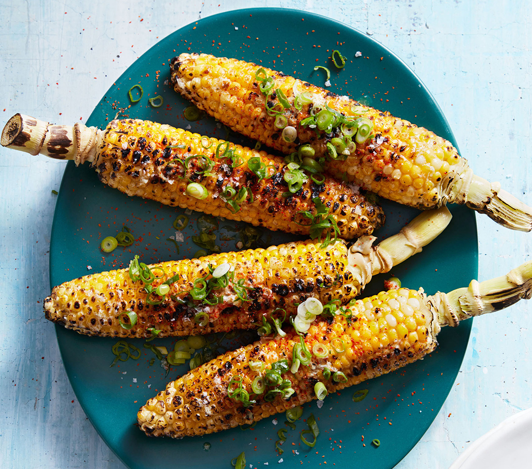 grilled corn with togarashi-ginger butter